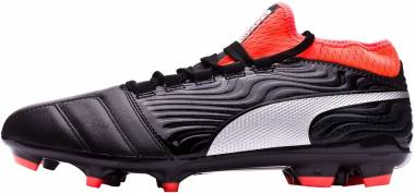 Puma One 18.3 Artificial Grass - Negro (Puma Black-puma Silver-red Blast)