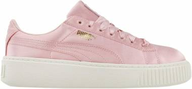 low priced da368 6fc58 Puma Basket Platform Satin