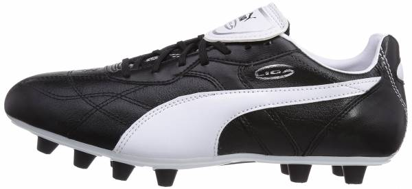 Puma Liga Classico Firm Ground Black (Black/White/Puma Silver)