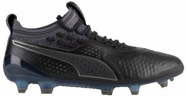 Puma One 1 Illuminate Leather FG/AG Black Men