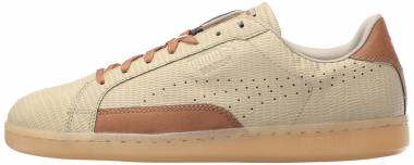 Puma Match Emboss Leather - Pale Khaki/Chipmunk