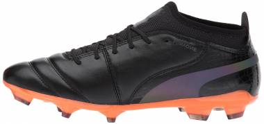 Puma One Lux 2 Firm Ground - Puma Black-puma Black-shocking Orange