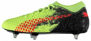 Puma Future 18.4 Soft Ground  - Fizzy Yellow Red Blast Puma Black
