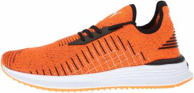 Puma Avid evoKNIT - Shocking Orange Schwarz Weiß (36539209)