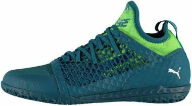 Puma 365 Ignite Netfit Court Trainer - Deep Lagoon-puma White-green Gecko