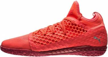 Puma 365 Ignite Netfit Court Trainer - Fiery Coral-Puma White-Toreador (10447301)
