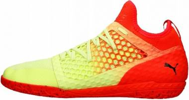 Puma 365 Ignite Netfit Court Trainer - Fizzy Yellow Red Blast Puma Black (10470401)
