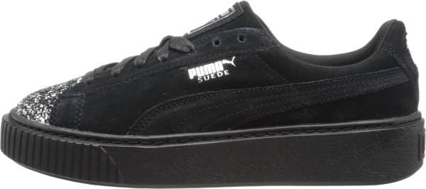puma suede black and silver