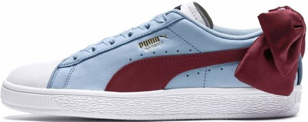 Puma Basket Bow New School - Puma White / Cerulean-Pomegranate