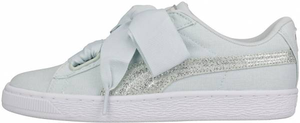 Puma Basket Heart Canvas Blue Flower / Puma White / Puma Silver