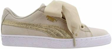 Puma Basket Heart Canvas - Beige (36649501)