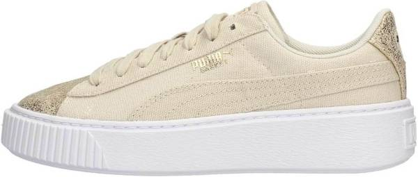 Puma Basket Platform Canvas Birch / Puma Team Gold