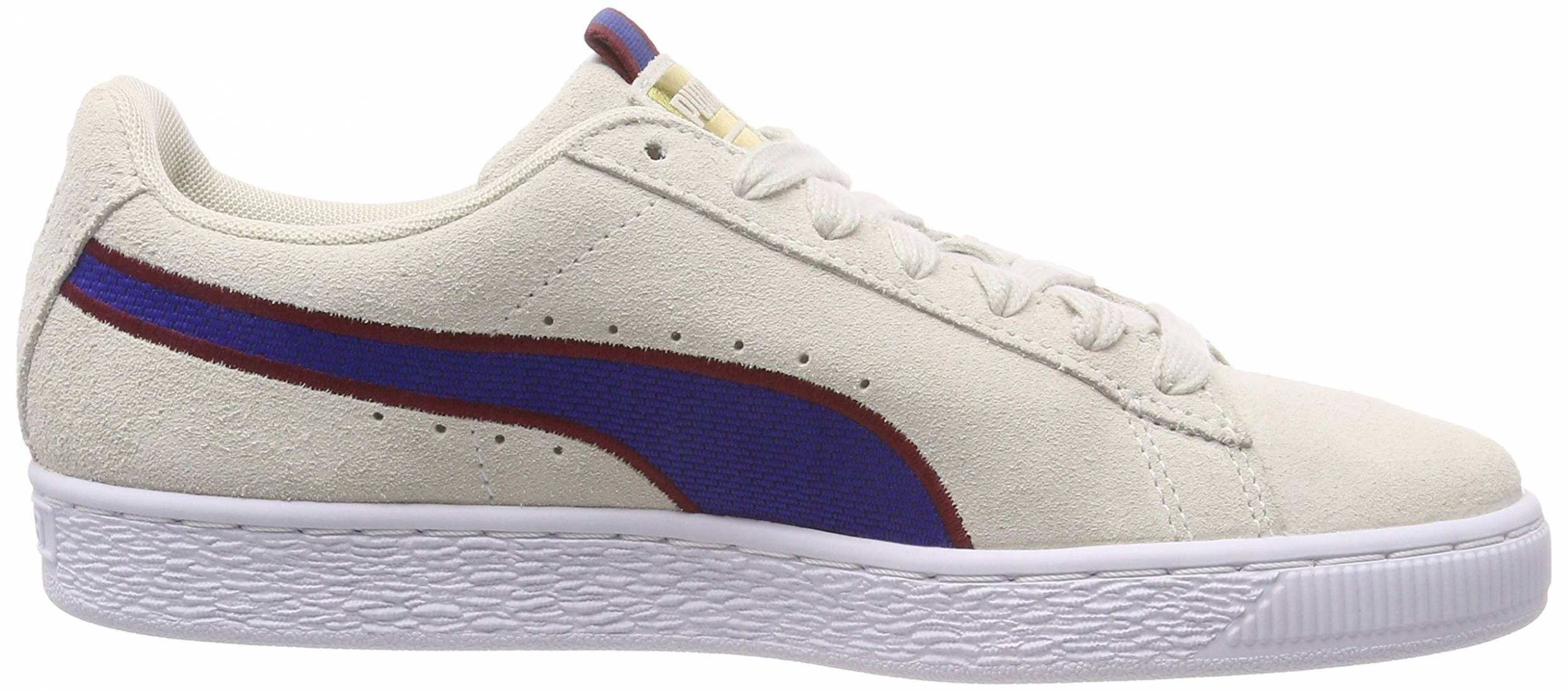 Puma Suede Classic Sport Stripes sneakers in beige (only $65 ...
