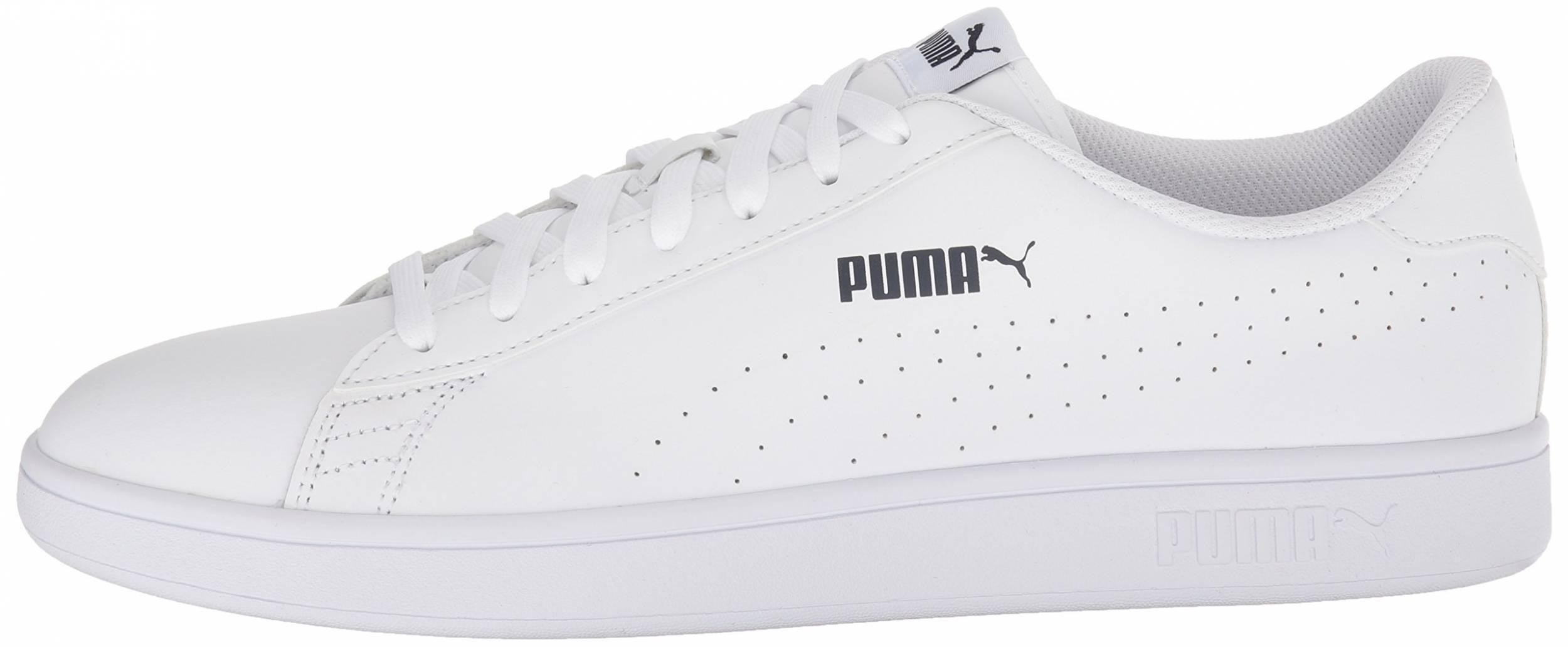 Puma Smash v2 L Perf sneakers in black orange (only $50) | RunRepeat