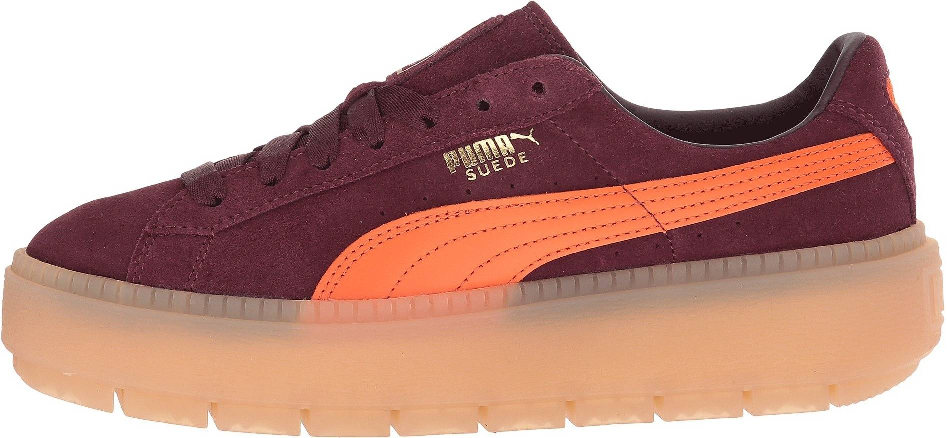 Puma Platform Trace Block sneakers in red (only $30)   RunRepeat