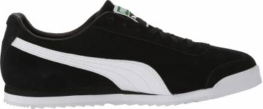 Puma Roma Suede - Puma Black-puma White-puma Team Gold-amazon Green