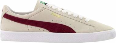 Puma Suede 90681 - Whisper White / Pomegranate / White