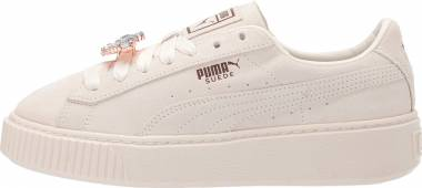 Puma Suede Platform Gem - Whisper White Whisper White