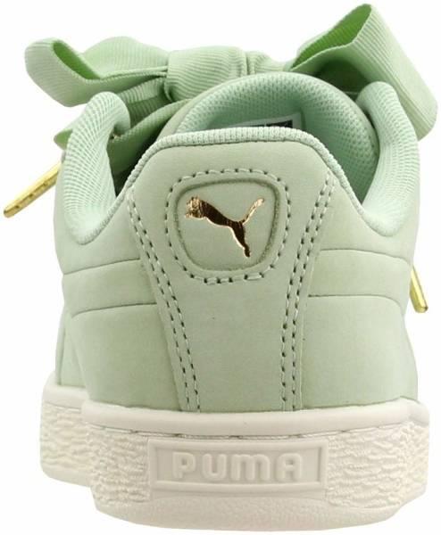 Women Puma Basket Heart Soft Trainers Cream Tan