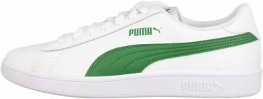 Puma Smash v2 - Puma White-amazon Green (36521503)