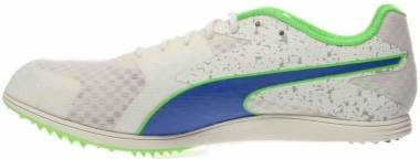 Puma TFX Distance V5 - White Strong Blue Fluorescent Green Co