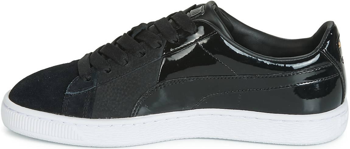 puma basket trainers black