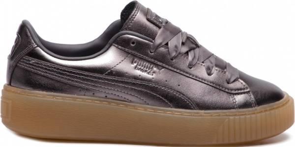 puma basket platform grey