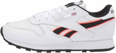Reebok Classic Leather - White/Neon Red/Black (EF8867)