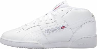 Reebok Workout Mid - White/White/Warm Grey (J19840)