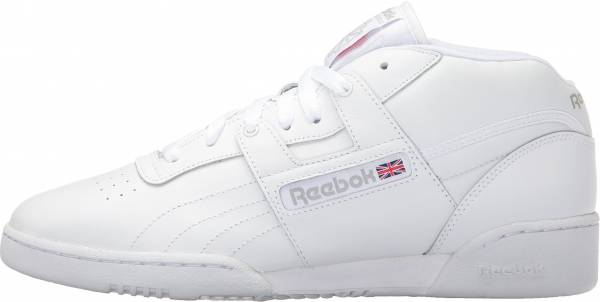 Reebok Workout Mid - White/White/Warm Grey