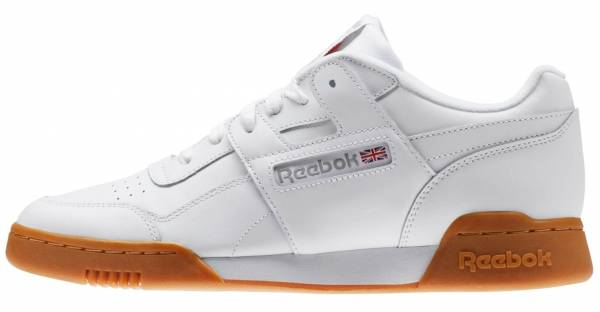 best service b9a41 55916 Reebok Workout Plus White Carbon Classic Red