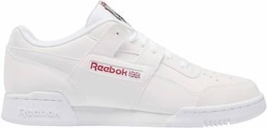 Reebok Workout Plus - White/Skull Grey/Red/Black