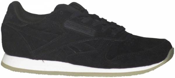 Reebok Womens Classic Leather Crepe Neutral Pop Black//White Athletic Shoe
