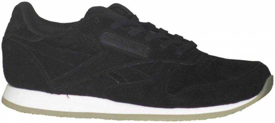 ¿Cómo Suradam Penetración  Reebok Classic Leather Crepe Neutral Pop sneakers in black + white (only  $43) | RunRepeat