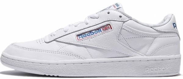 6e45e534fdacf3 Reebok Club C 85 SO White Lgh Solid Grey Vital Blue Prml Red
