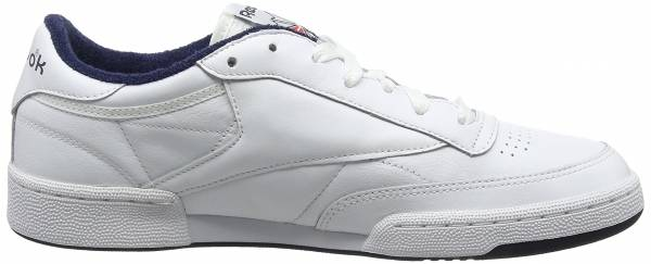 Reebok Club C 85 Leather - Blanco (White/Collegiate Navy/Excellent Red)