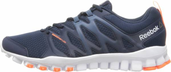 472e488563788 Reebok RealFlex Train 4.0 Collegiate Navy Brave Blue White Wild  Orange Pewter