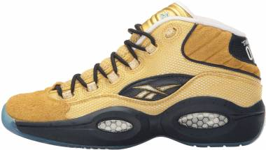 Reebok Question Mid  Matte Gold/Collegiate Navy Men