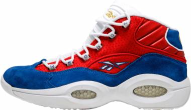 Reebok Question Mid  - Red Royal White Gold Metallic