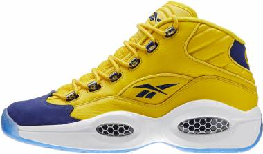 Reebok Question Mid  Yellow/Navy/WHT Men