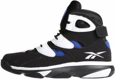 b4c80ff10c13 Reebok Shaq Attaq 4 Black White Team Dark Royal Men
