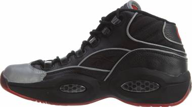 Reebok Question Mid A5 - Black Silver Metal Red