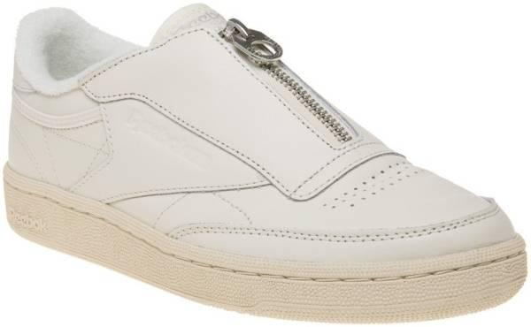 reebok classic club c 85 zip trainers in beige