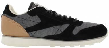 74f45ba6673bb Reebok Classic Leather Fleck Black Chalk Shady Grey Men