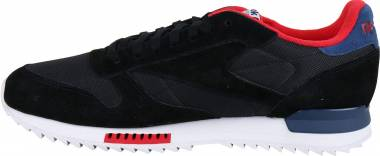 Reebok Classic Leather Ripple Clip - Black Washed Blue Primal Red White