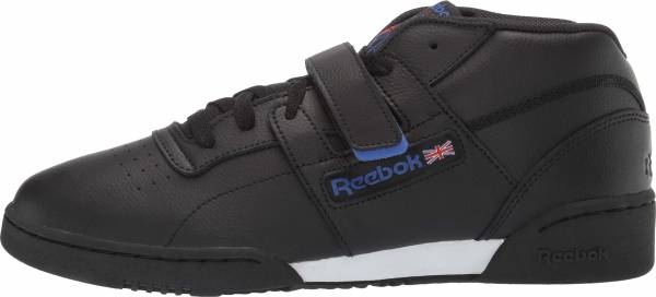 Reebok Workout Clean Mid Strap Black/Crushed Colbalt/Primal Red/White