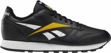 Reebok Classic Leather Vector - Black White Toxic Yellow (EF8835)
