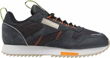 Reebok Classic Leather Ripple Trail - True Grey 8 / Solar Orange / Neon Lime