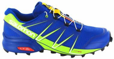 Salomon Speedcross Pro - Bleu Surf The Web Lime Green Black 4