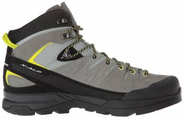 Salomon X Alp Mid LTR GTX Gris (Shadow/Castor Gray/Lime Punch 000) Men